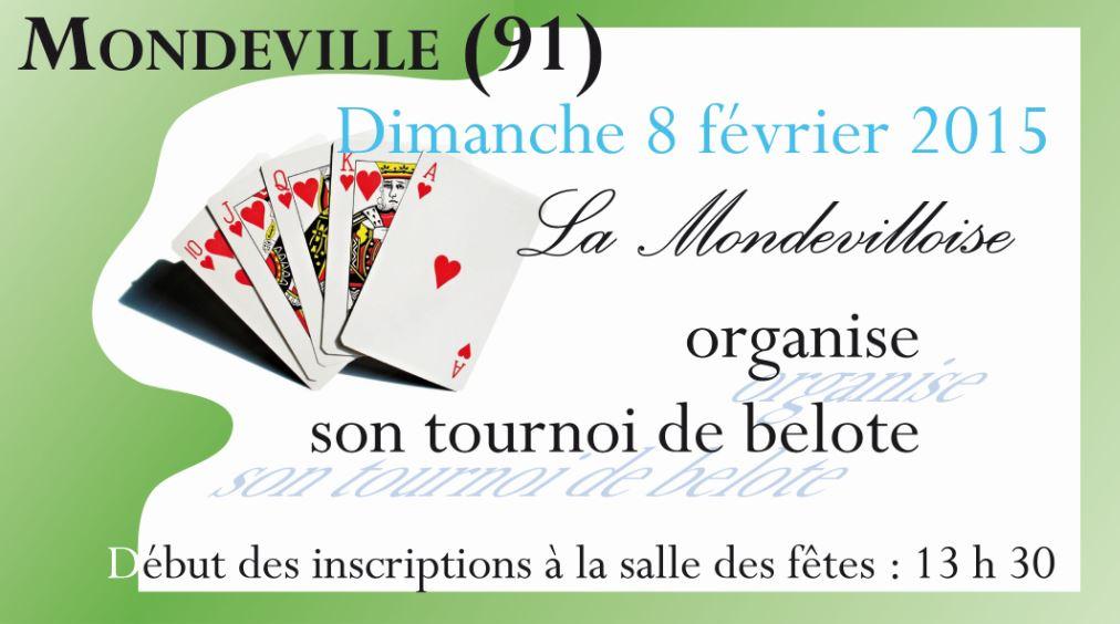 Concours de belote le 8 février 2015 à Mondeville – Essonne