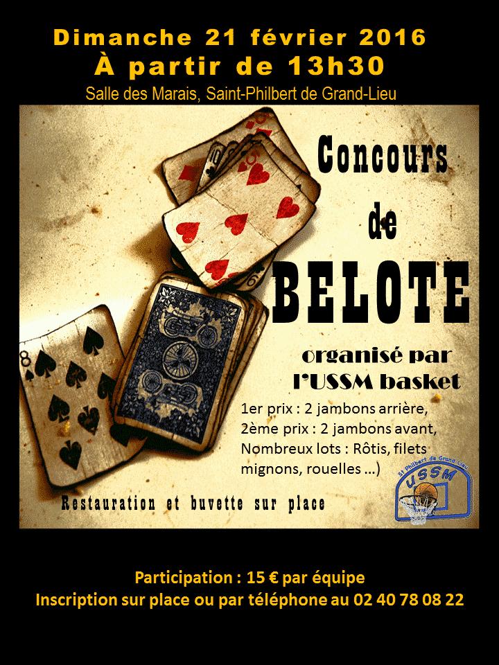 Affiche concours de belote USSM