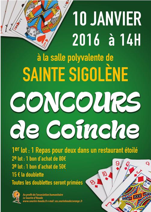 Concours de Coinche le 10 janvier 2016 à Sainte Sigolène 43