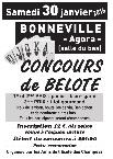 Concours de belote le 30 janvier 2016 Bonneville – Haute Savoie
