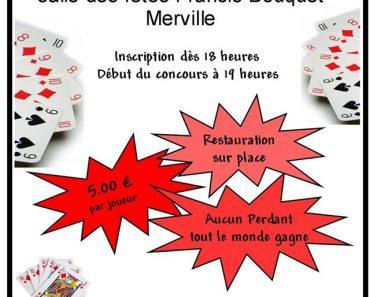 Affiche du Tournoi de belote le 7 mai 2016 à Merville - Nord