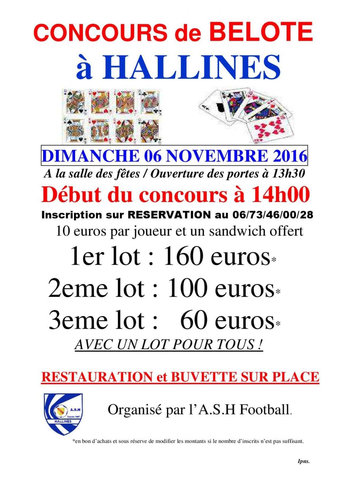 affiche TOURNOI de Belote à HALLINES 06 NOVEMBRE 2016-page-001