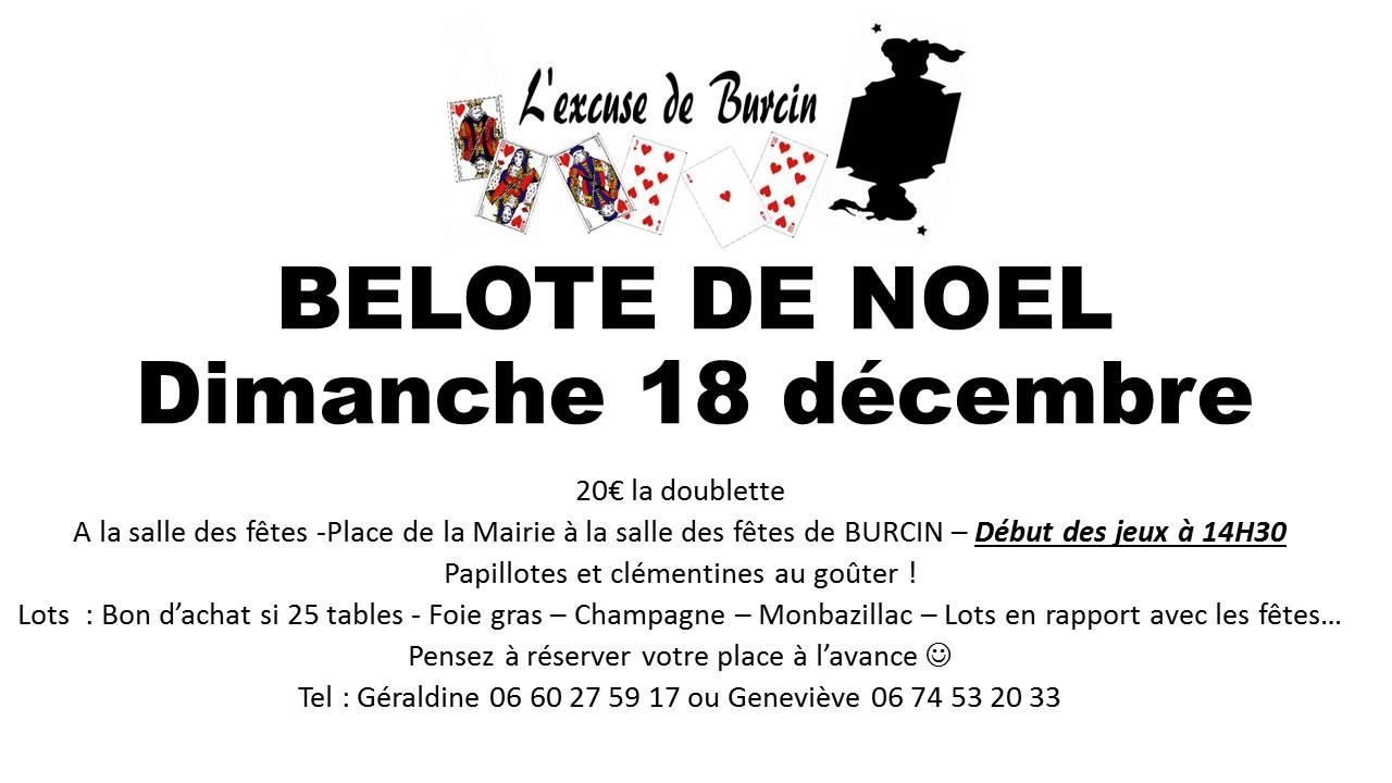 Affiche BELOTE DE NOEL 18_12_2016