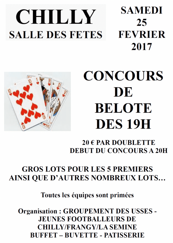 AFFICHE concours BELOTE gc usses 2017