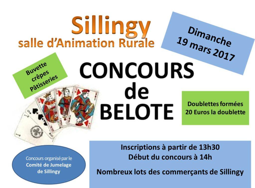 affiche Concours de Belote le 19 mars 2017 à Sillingy (74330)