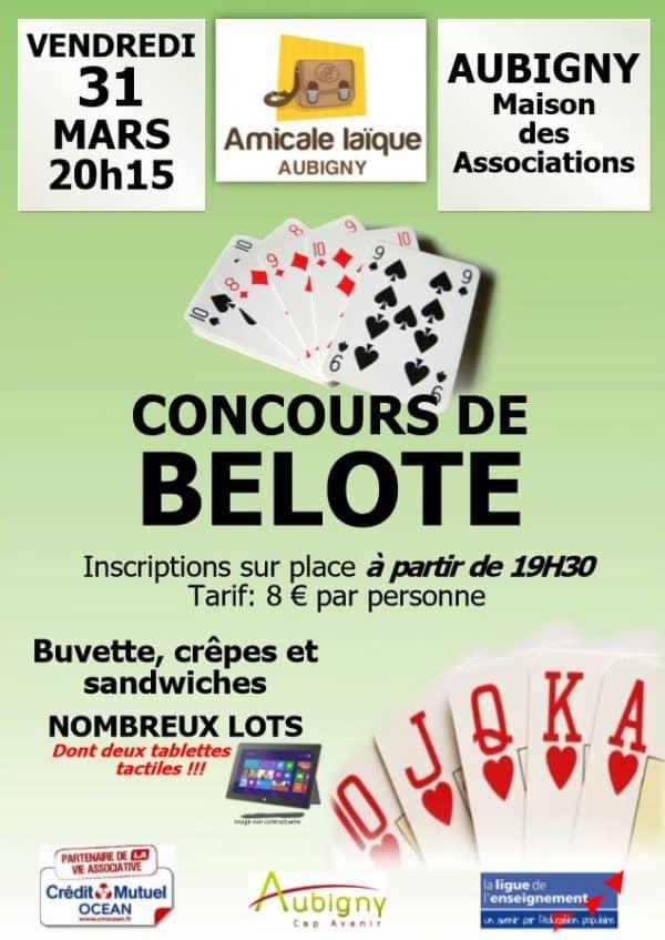 concours belote Aubigny 31 mars 2017
